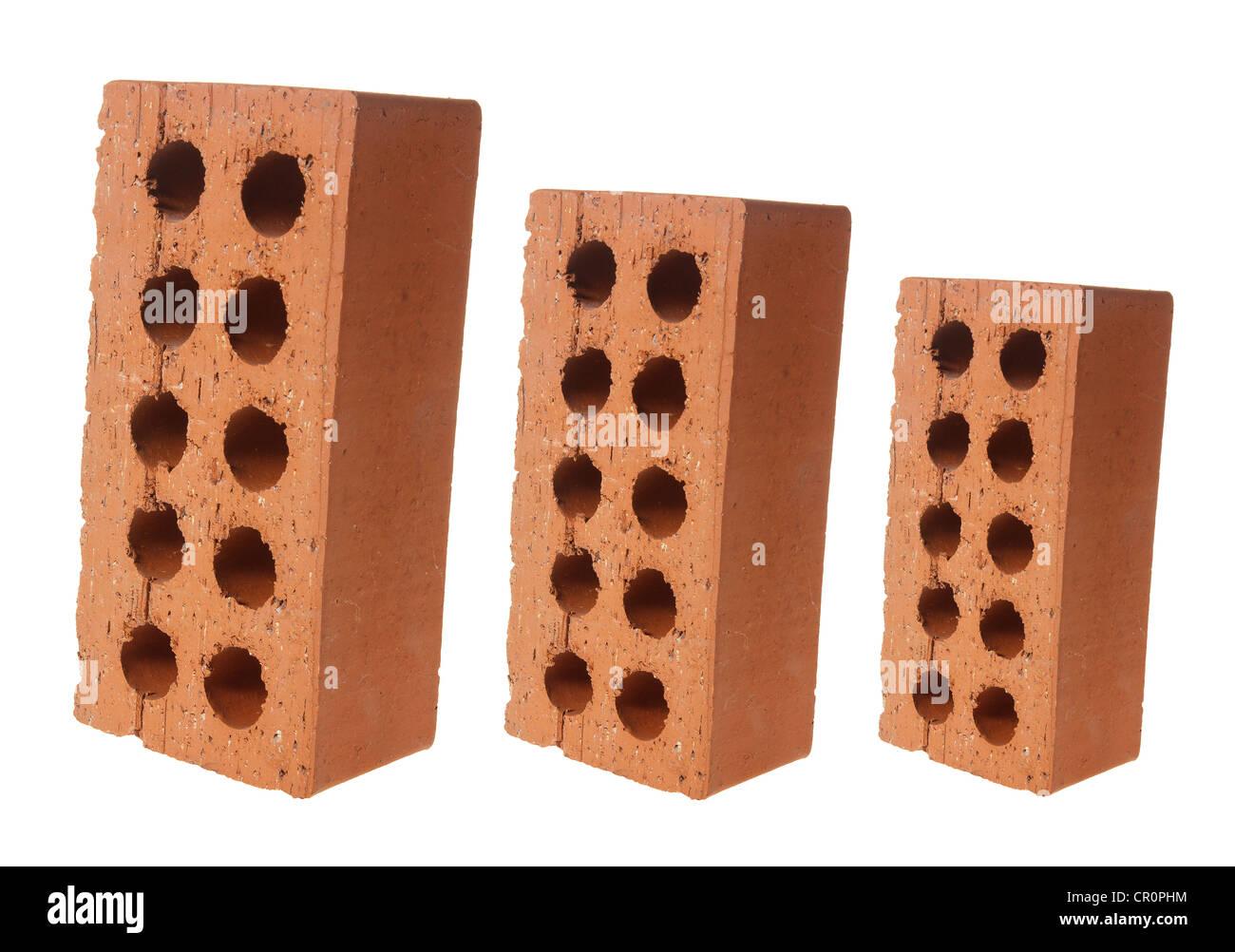 Row of Bricks - Stock Image