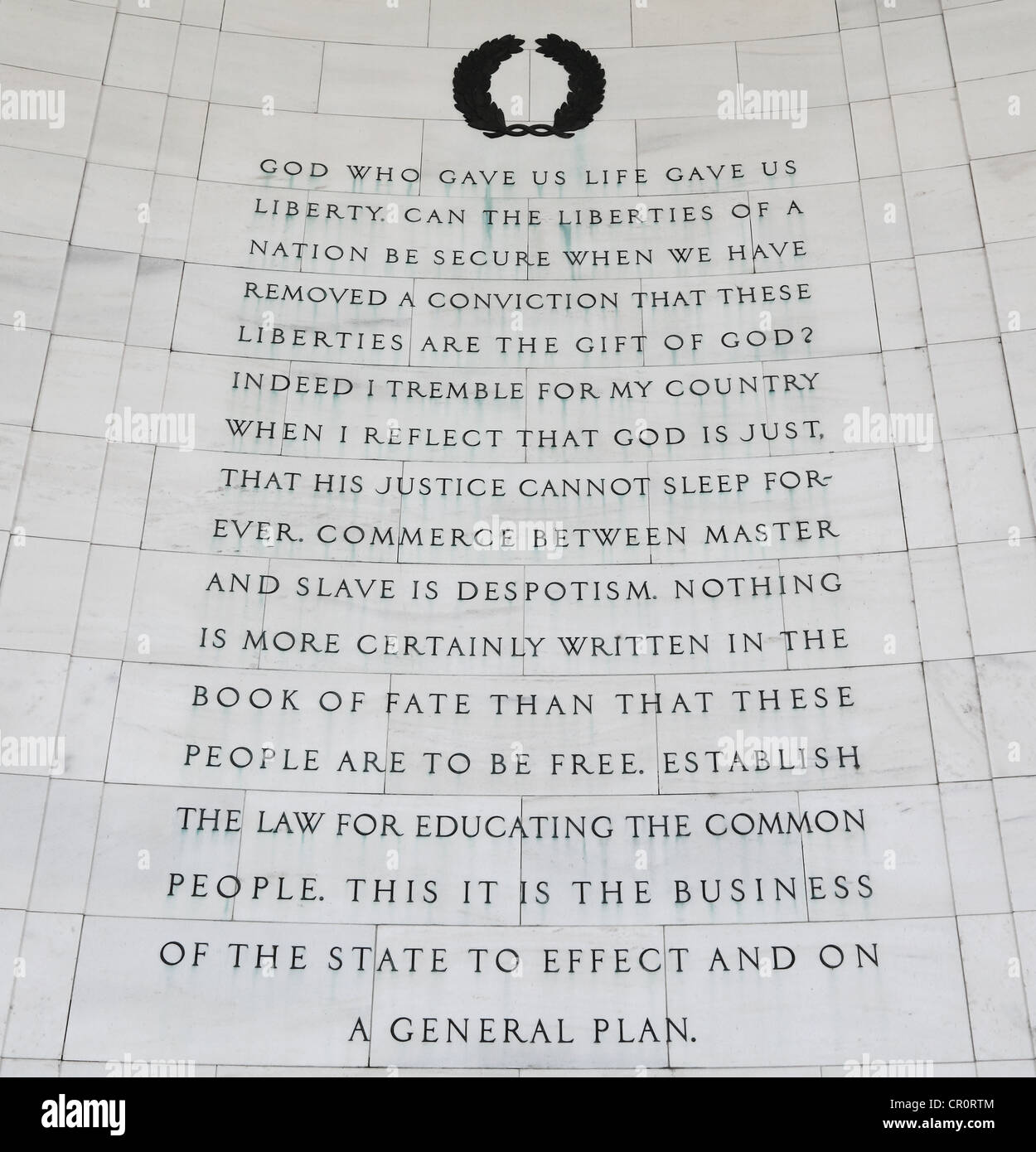 Thomas Jefferson Quotes   Inscription on the northeast quadrant of