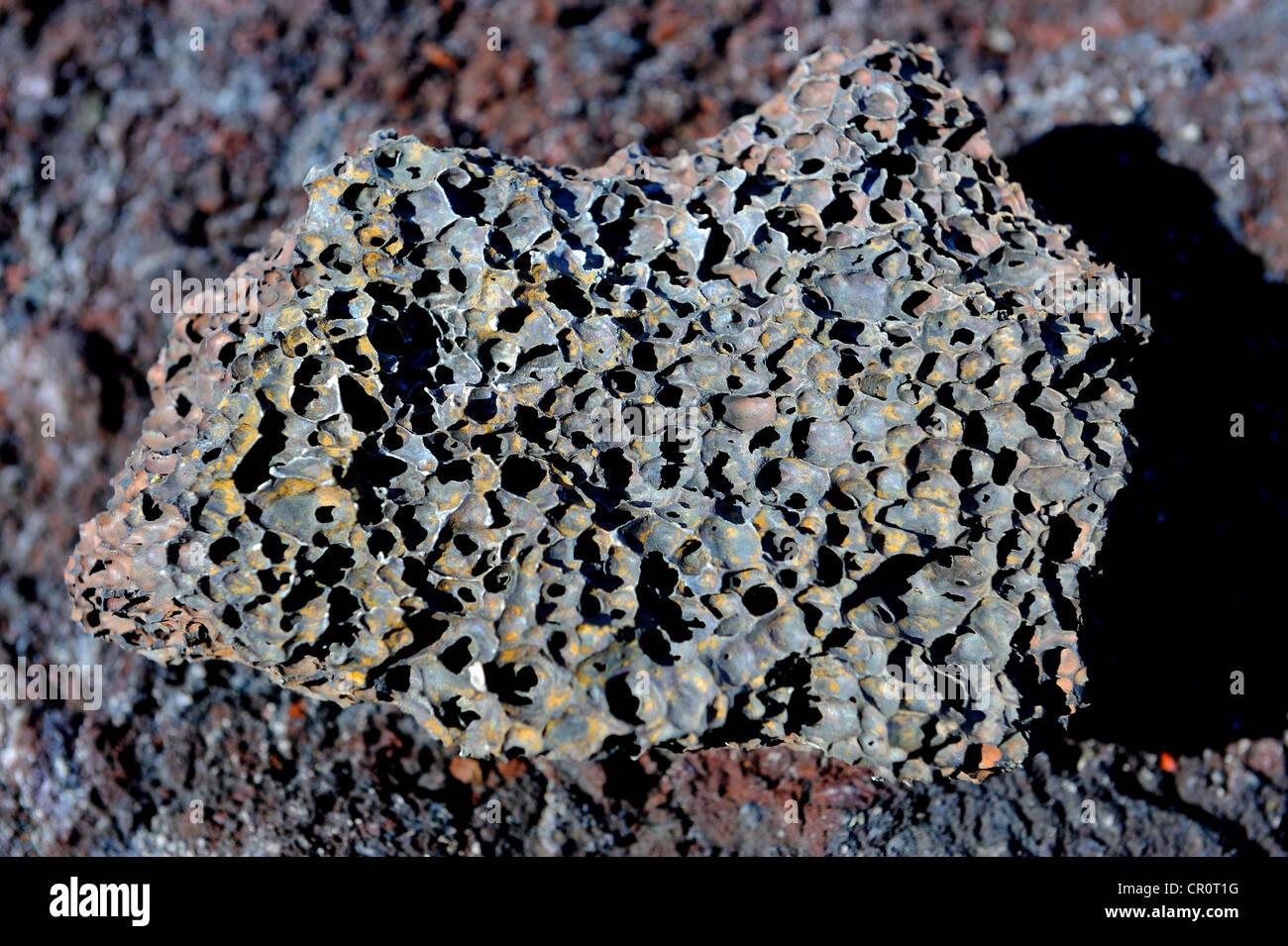 Lava rock, La Palma, Canary Islands, Spain, Europe, PublicGround - Stock Image