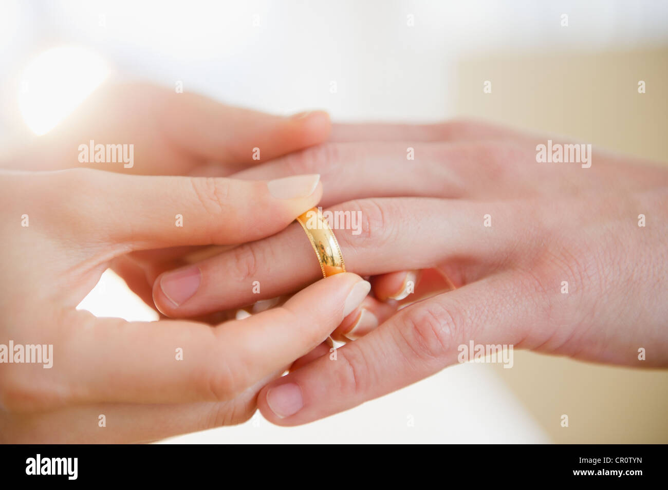 Mans Hand Wedding Ring Close Stock Photos & Mans Hand Wedding Ring ...