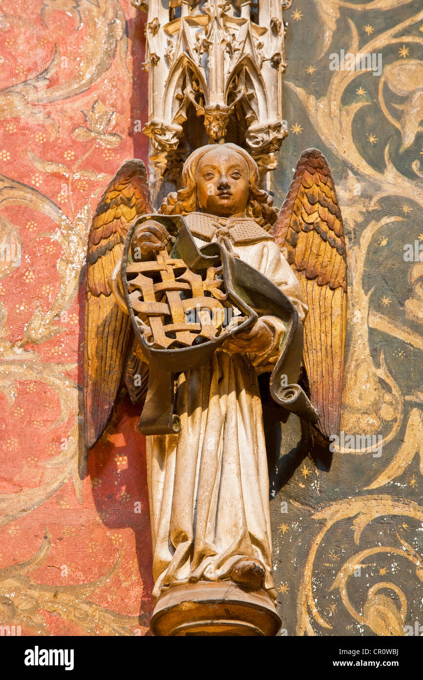 France Tarn Albi episcopal city listed as World Heritage by UNESCO sculpture detail of Stall of chancel of cathedrale - Stock Image