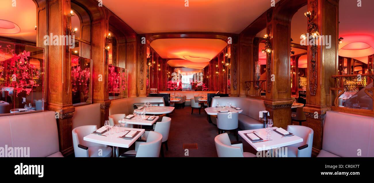 France, Paris, gastronomic restaurant Senderens formerly Lucas Carton - Stock Image