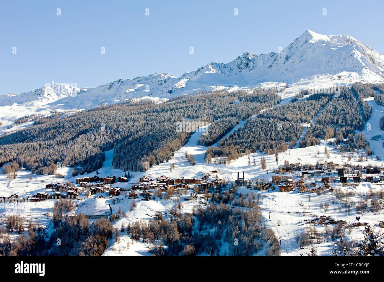 France, Savoie, Peisey Nancroix, paradiski Stock Photo