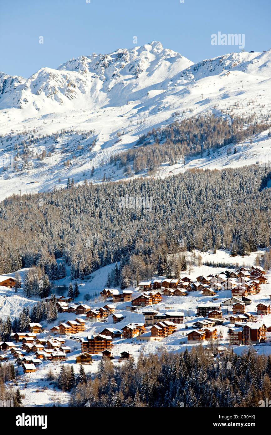 France, Savoie, Peisey Nancroix, paradiski, Aiguille Rouge 3226m Stock Photo