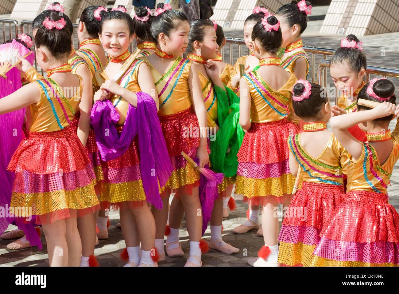 China, Hong Kong, folkloric festival - Stock Image