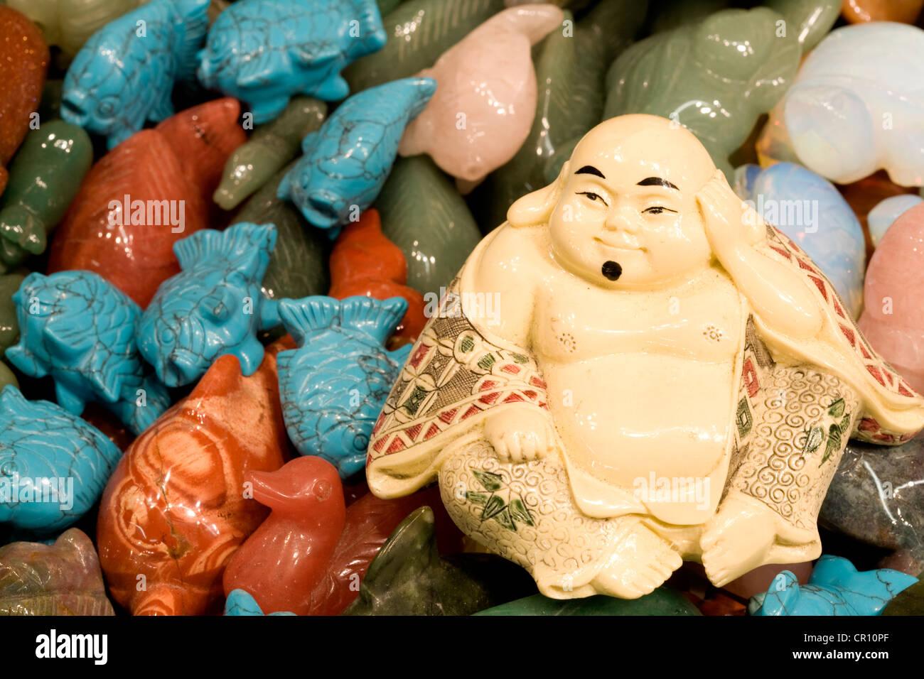 China, Hong Kong, Kowloon, Jade market, buddha - Stock Image