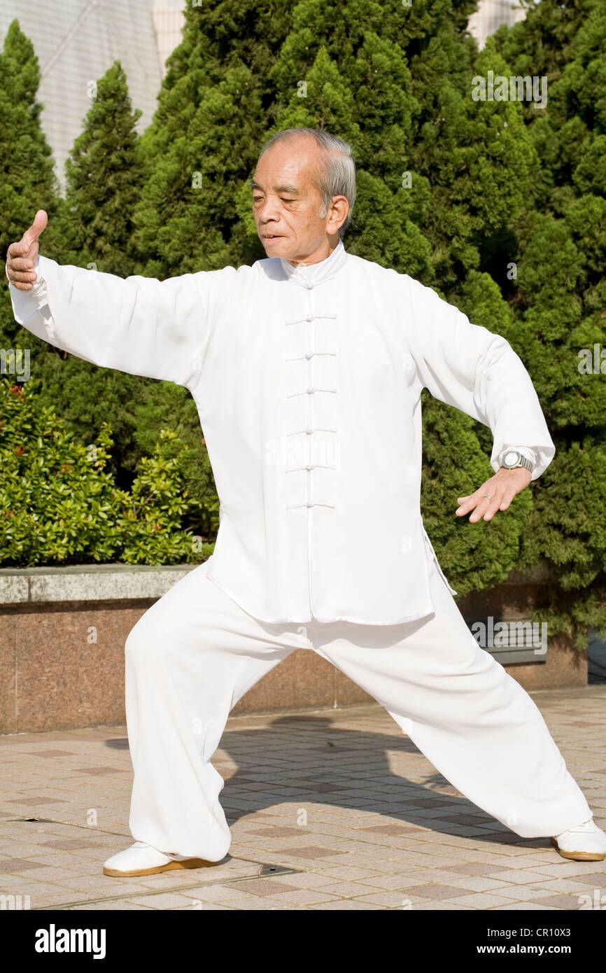 China, Hong Kong, William Ng, Tai Chi teacher - Stock Image