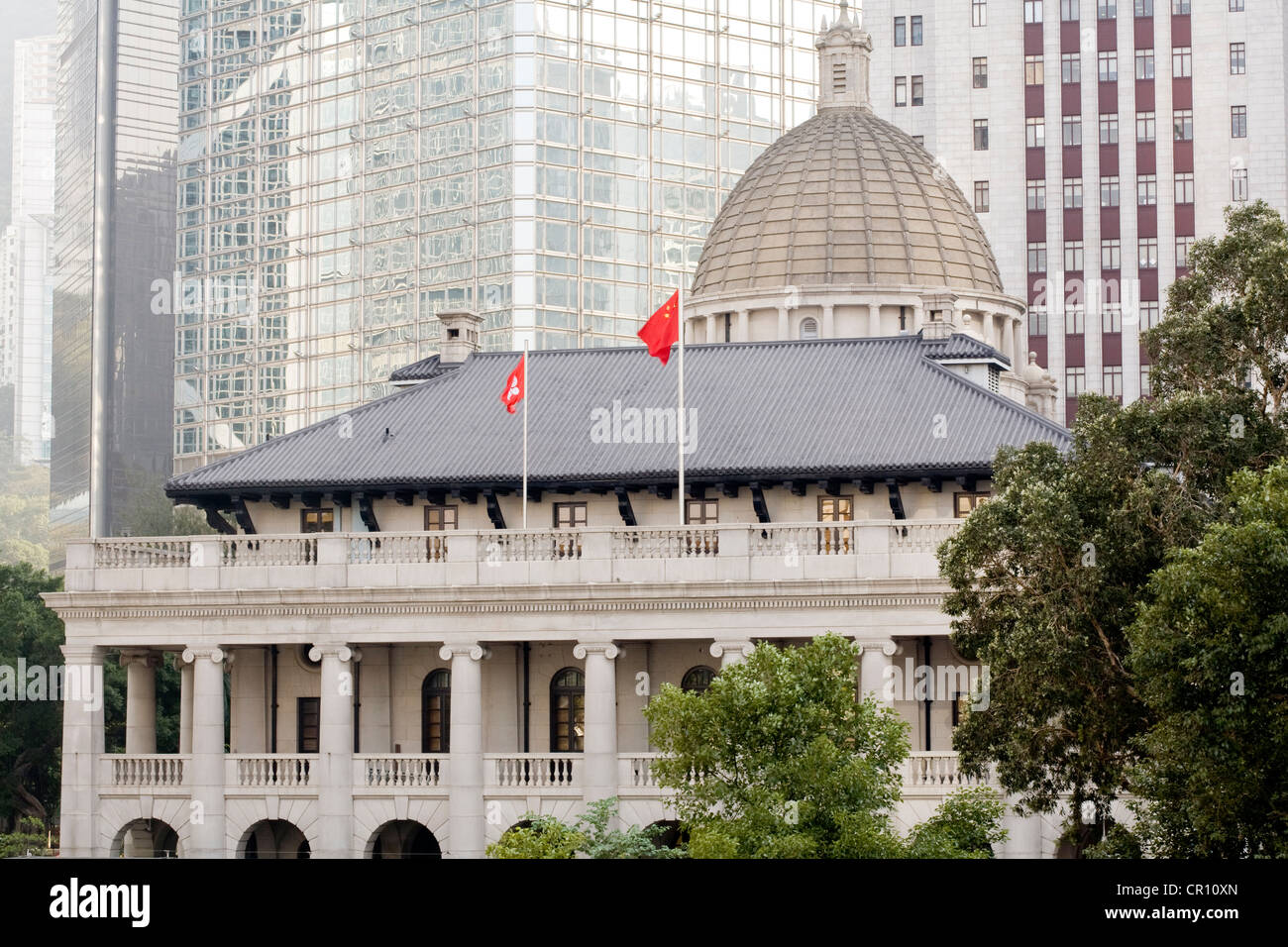 China, Hong Kong, Central District, Legislative Council Building dated 1912 by the English architect Sir aston Webb - Stock Image