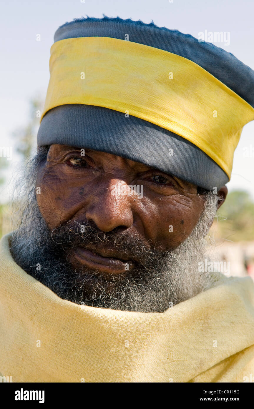 Ethiopia, Tigray Region, city of Axum, priest - Stock Image