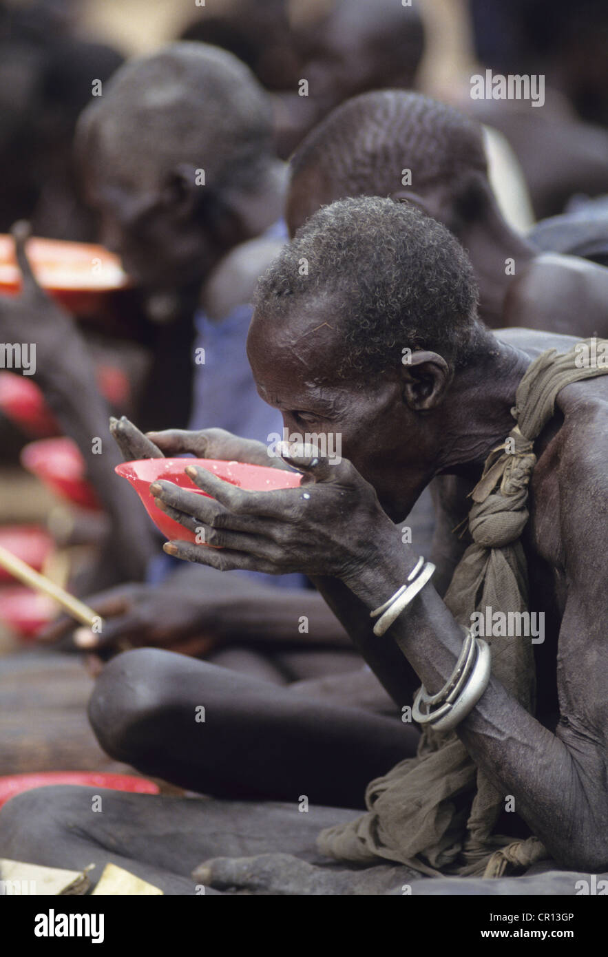 Thiet feeding camp in Southern Sudan - Stock Image