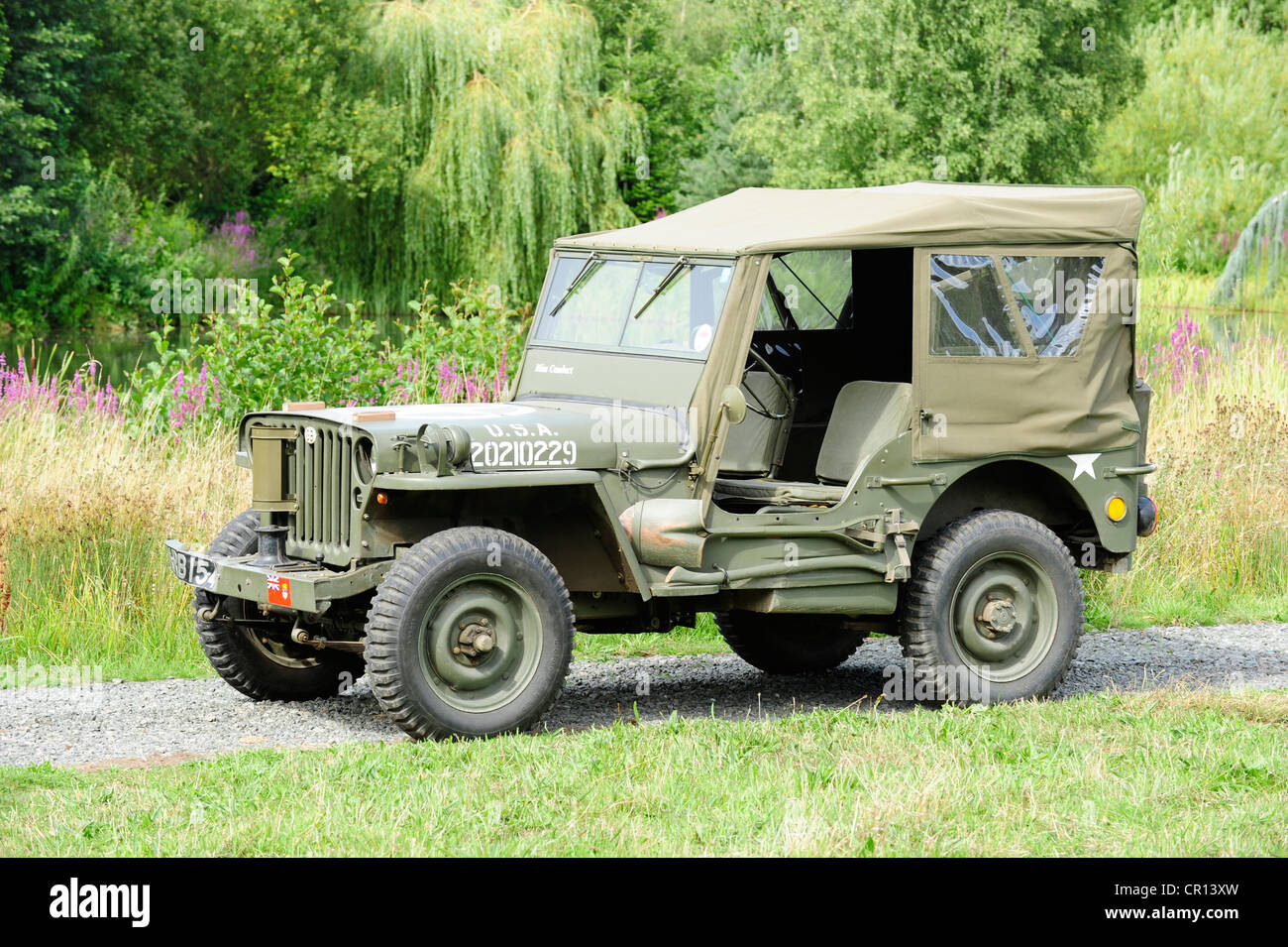 Willys Jeep Stock Photos Images Alamy 1953 Military 1945 In Usa Trim Image
