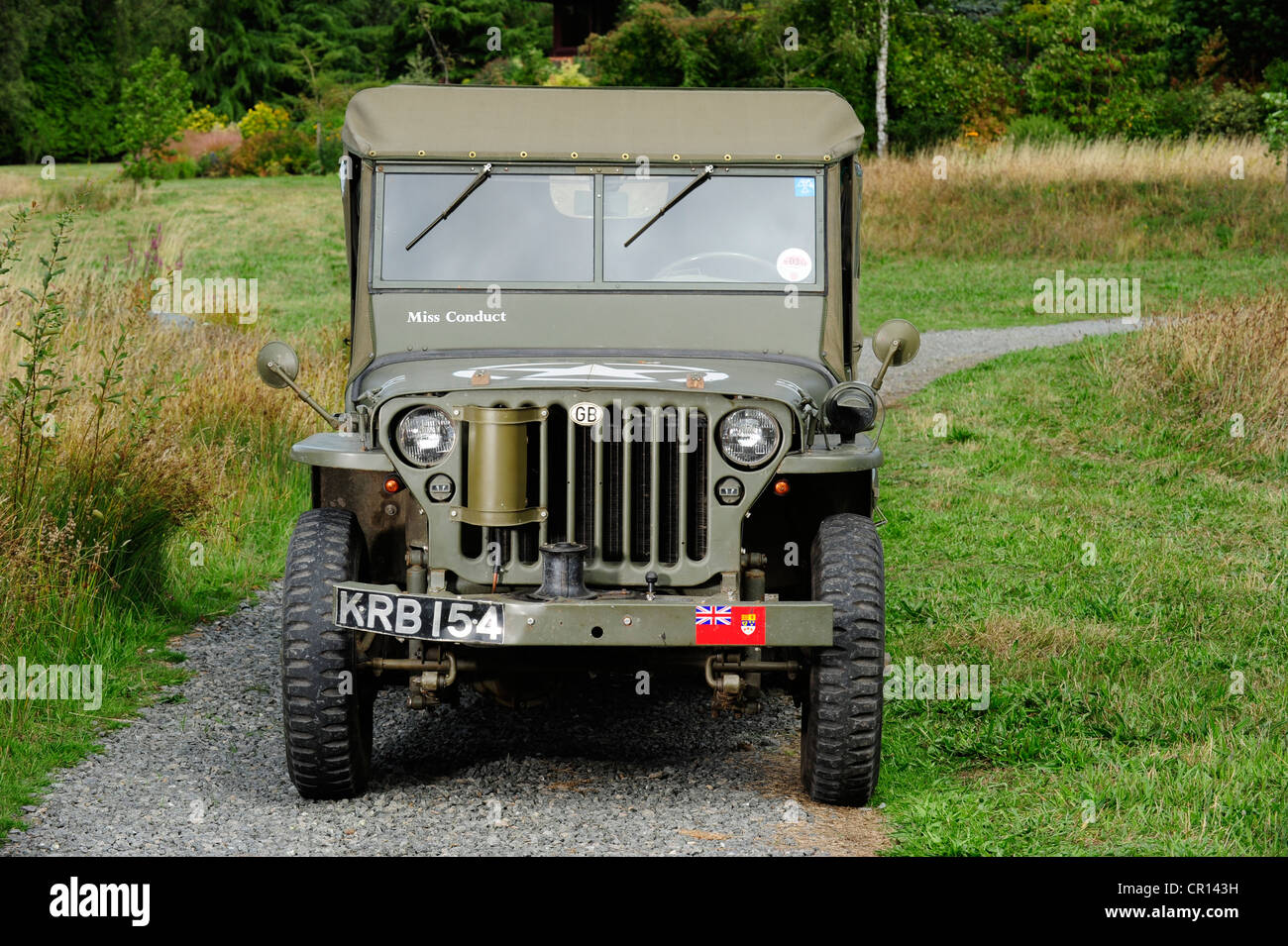 1945 willys jeep usa with all the added kit stock photo 48583013