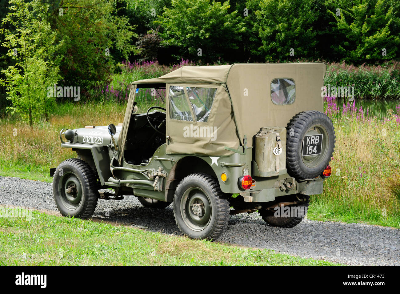 1945 Willys Jeep Usa With All The Added Kit Stock Photo 48583111