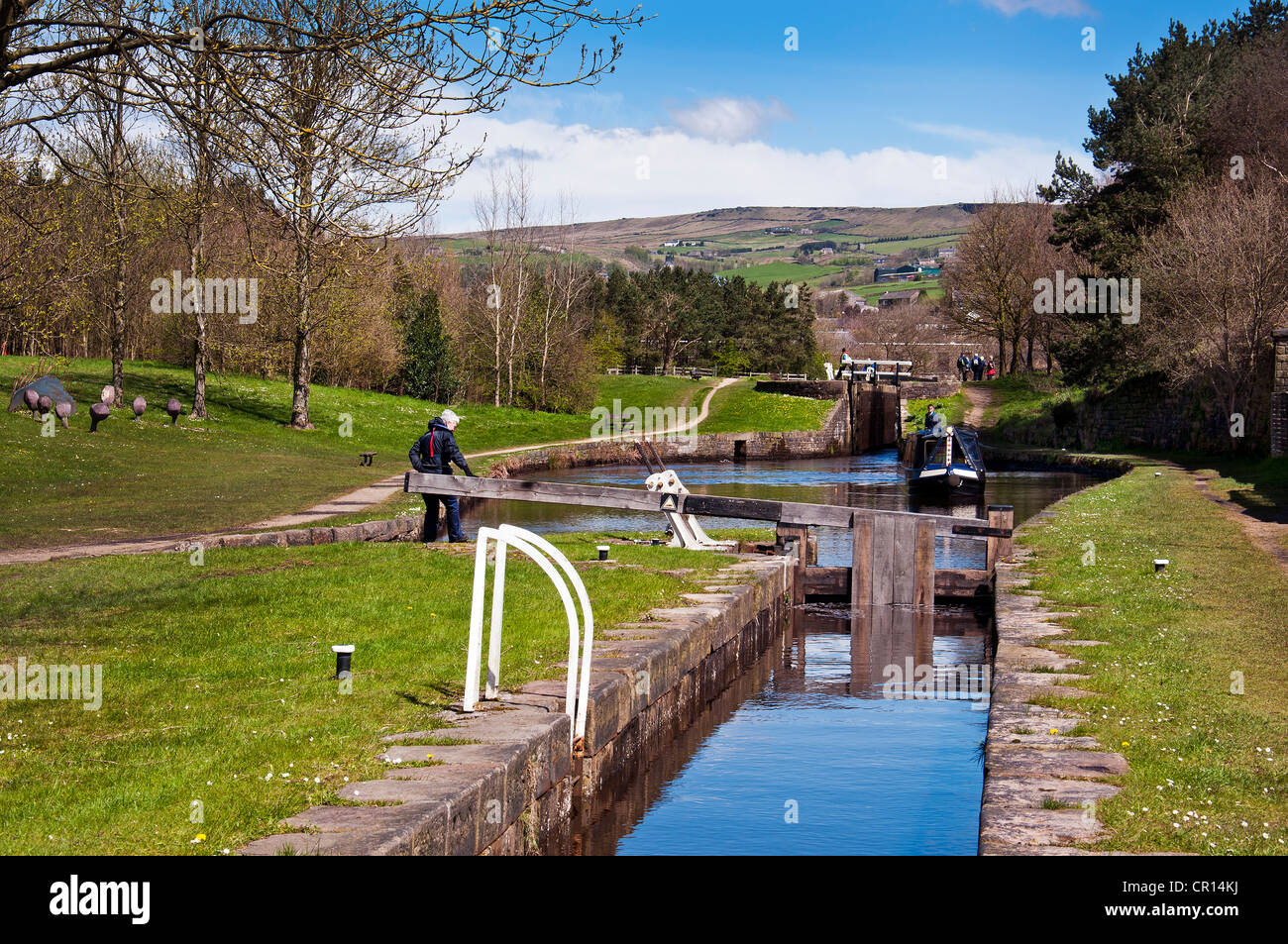Huddersfield Narrow Canal, Diggle, Oldham Lancashire. - Stock Image
