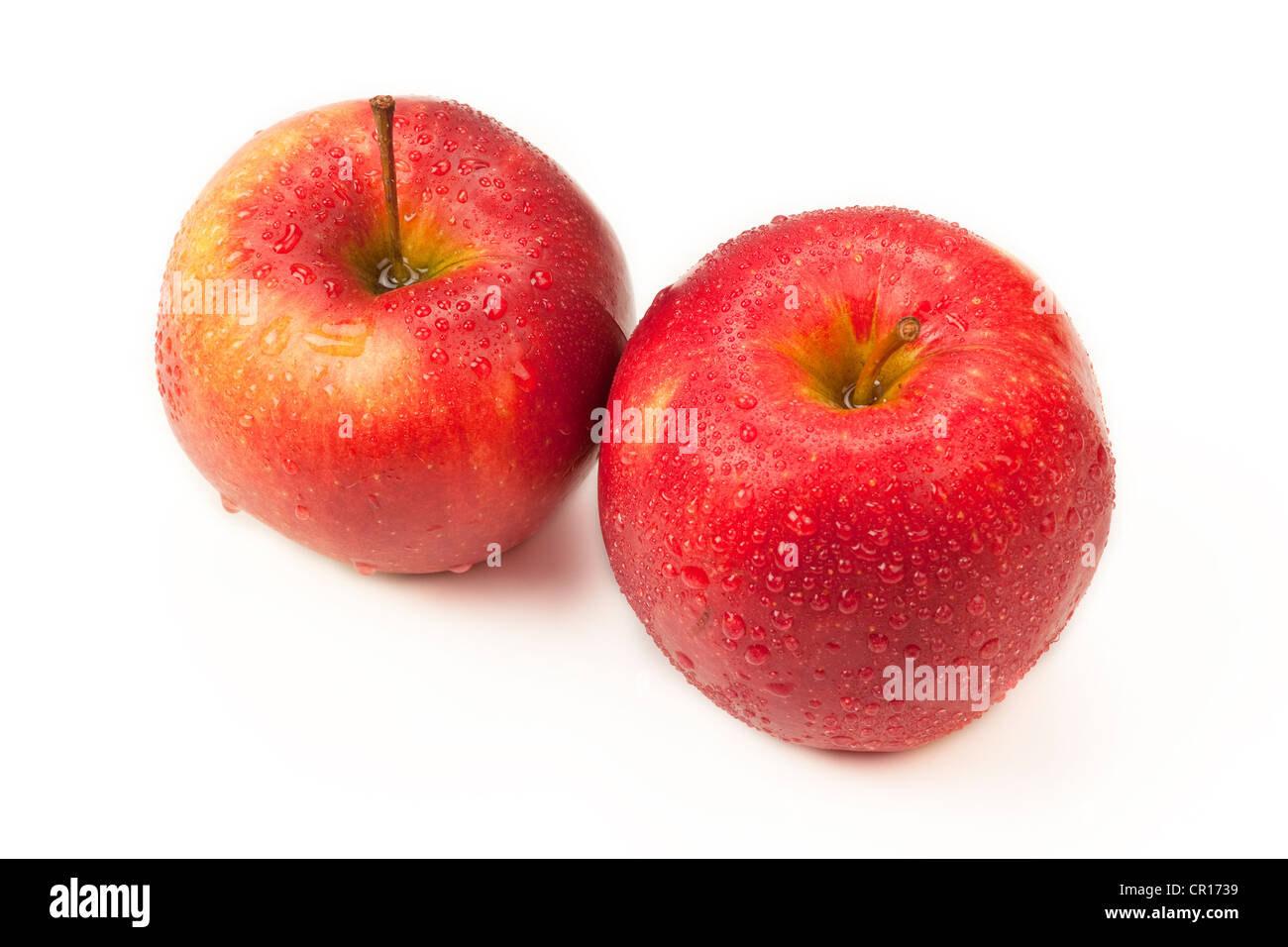 Two apples - Stock Image