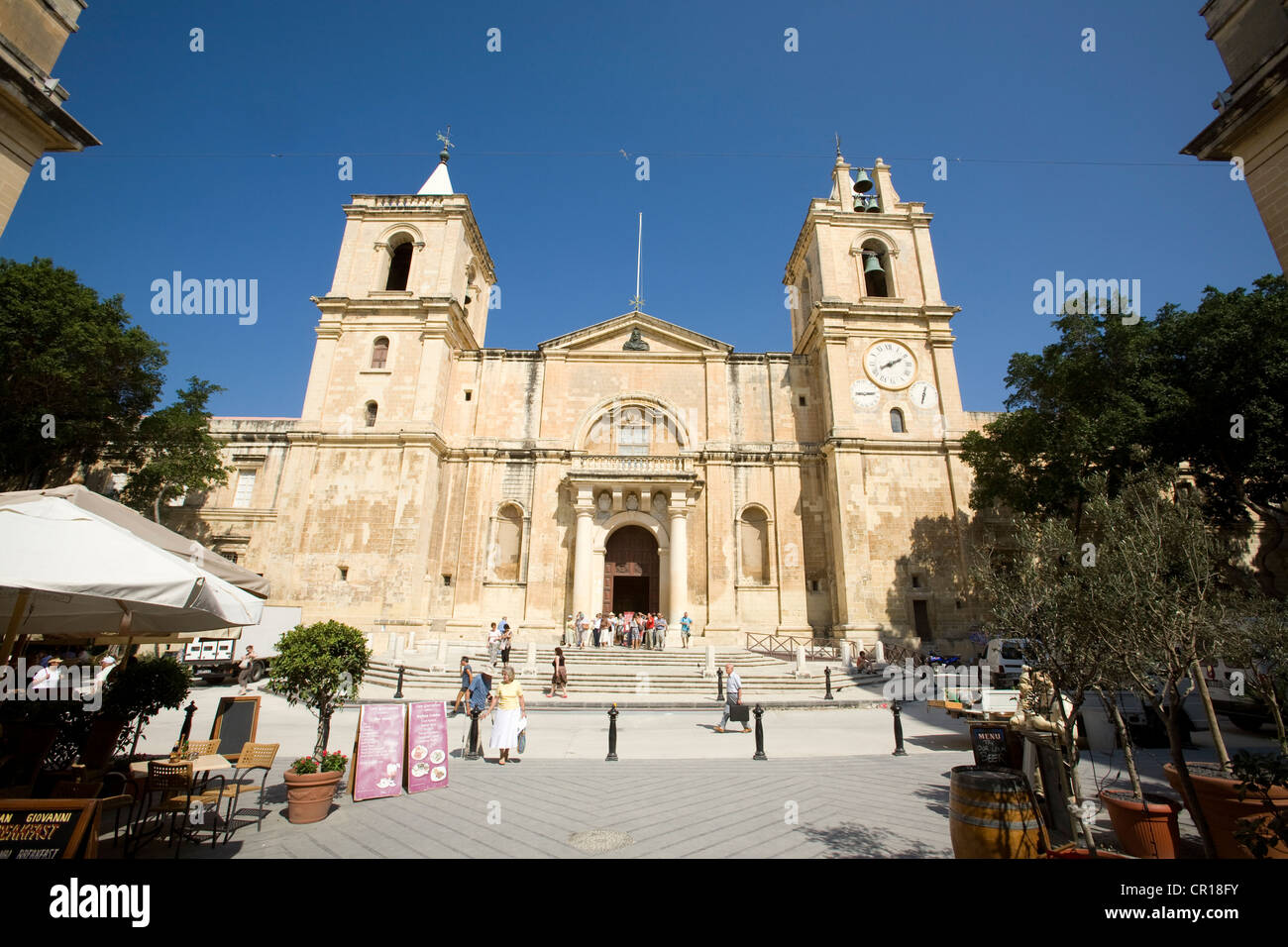 Malta, Valletta, listed as World Heritage by UNESCO, St John's Co-Cathedral - Stock Image