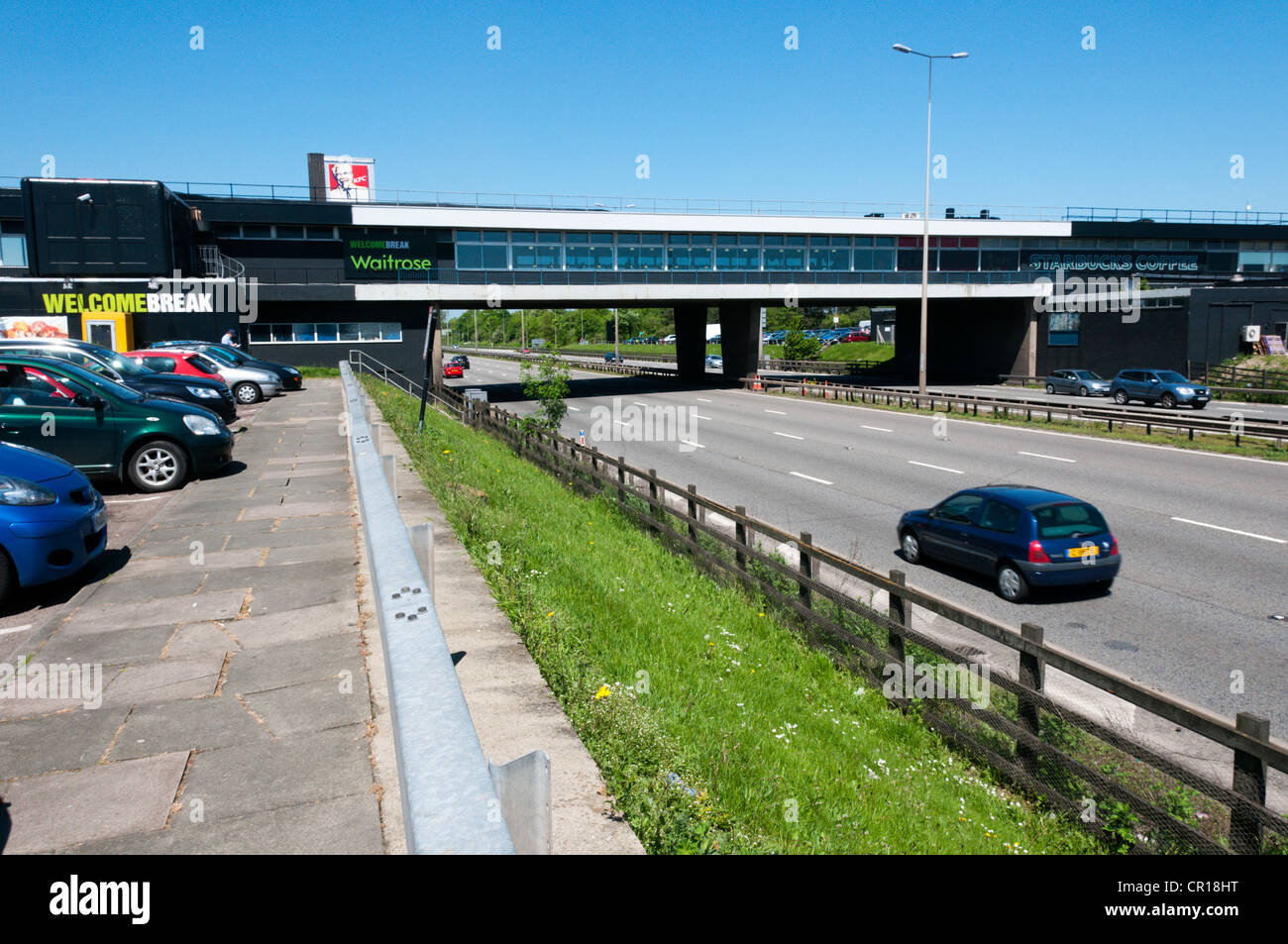 Leicester Forest East services on the M1 motorway, looking northbound. Stock Photo