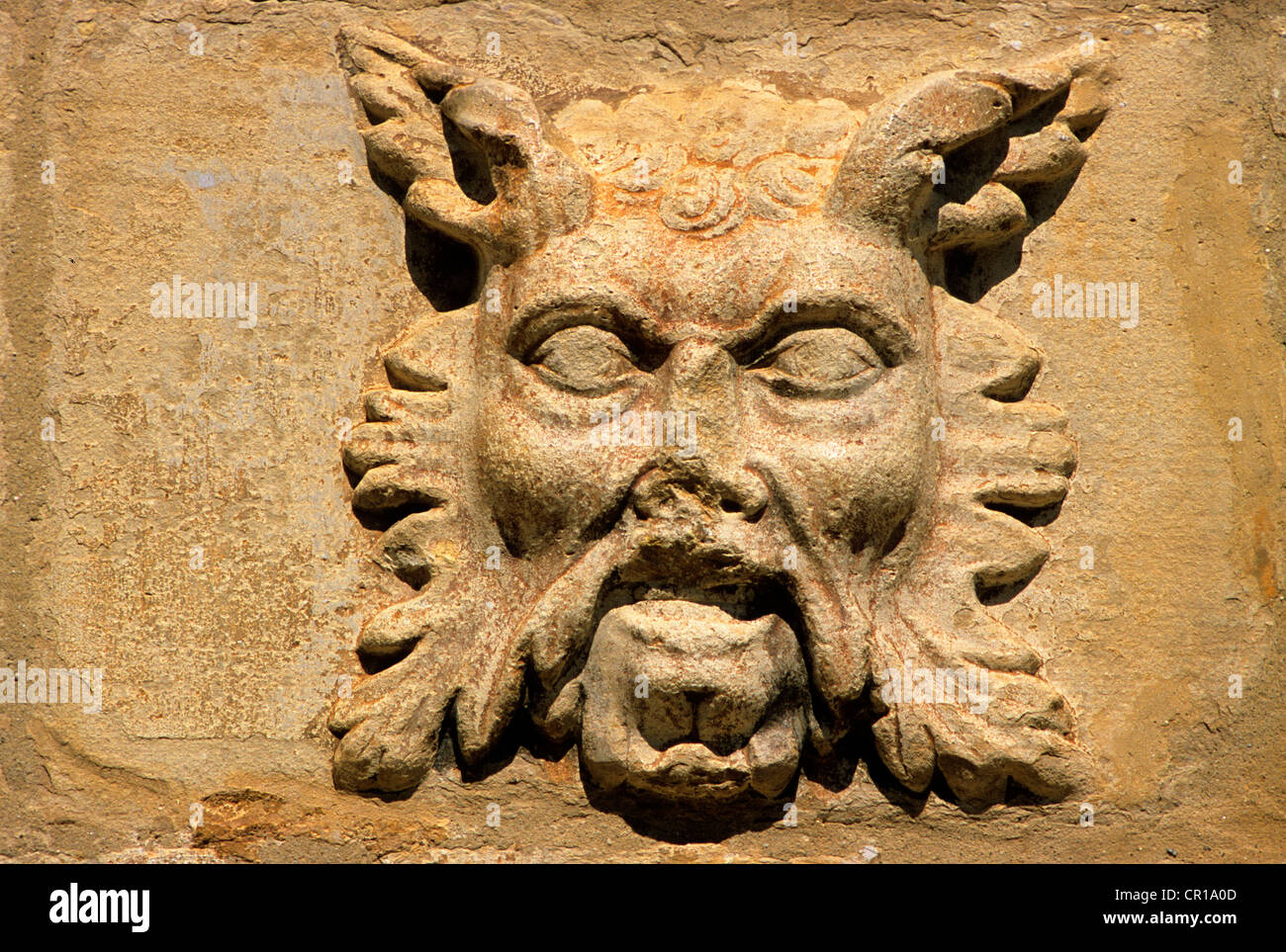 Spain, Catalonia, Tarragona Province, Conca de Barbera comarca, city of Montblanc, detail of the facade of Santa - Stock Image