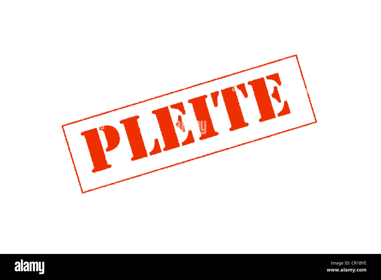 Word 'Pleite', German for bankruptcy - Stock Image
