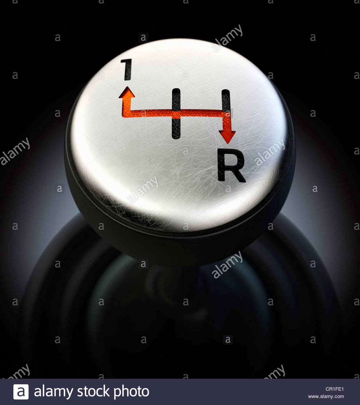 Gearshift showing only forward and reverse options - Stock Image