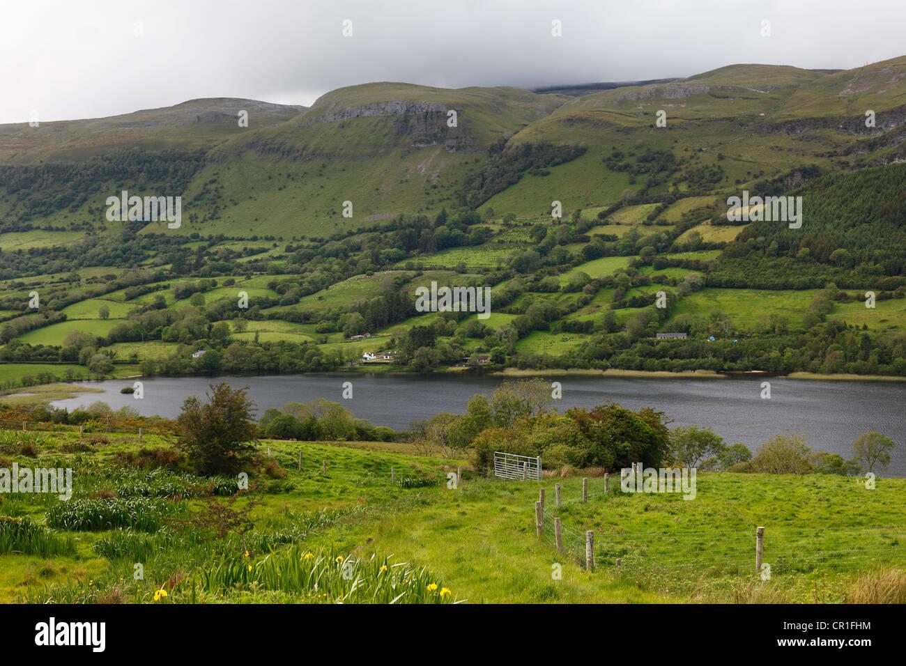 Glencar Lough, County Sligo, Connacht, Ireland, Europe - Stock Image
