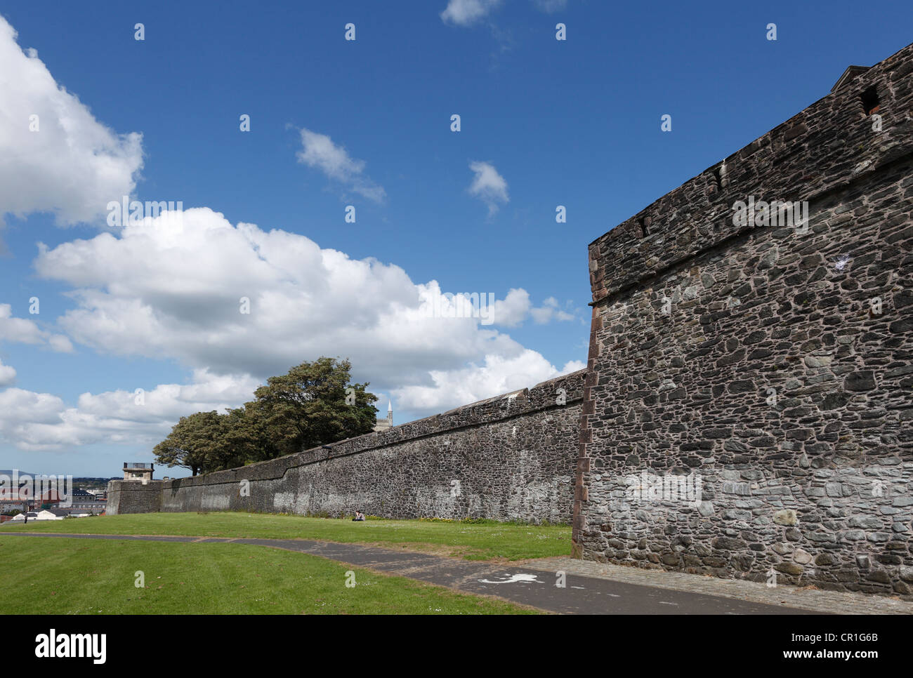 City walls, Londonderry, County Derry, Northern Ireland, Great Britain, Europe, PublicGround - Stock Image