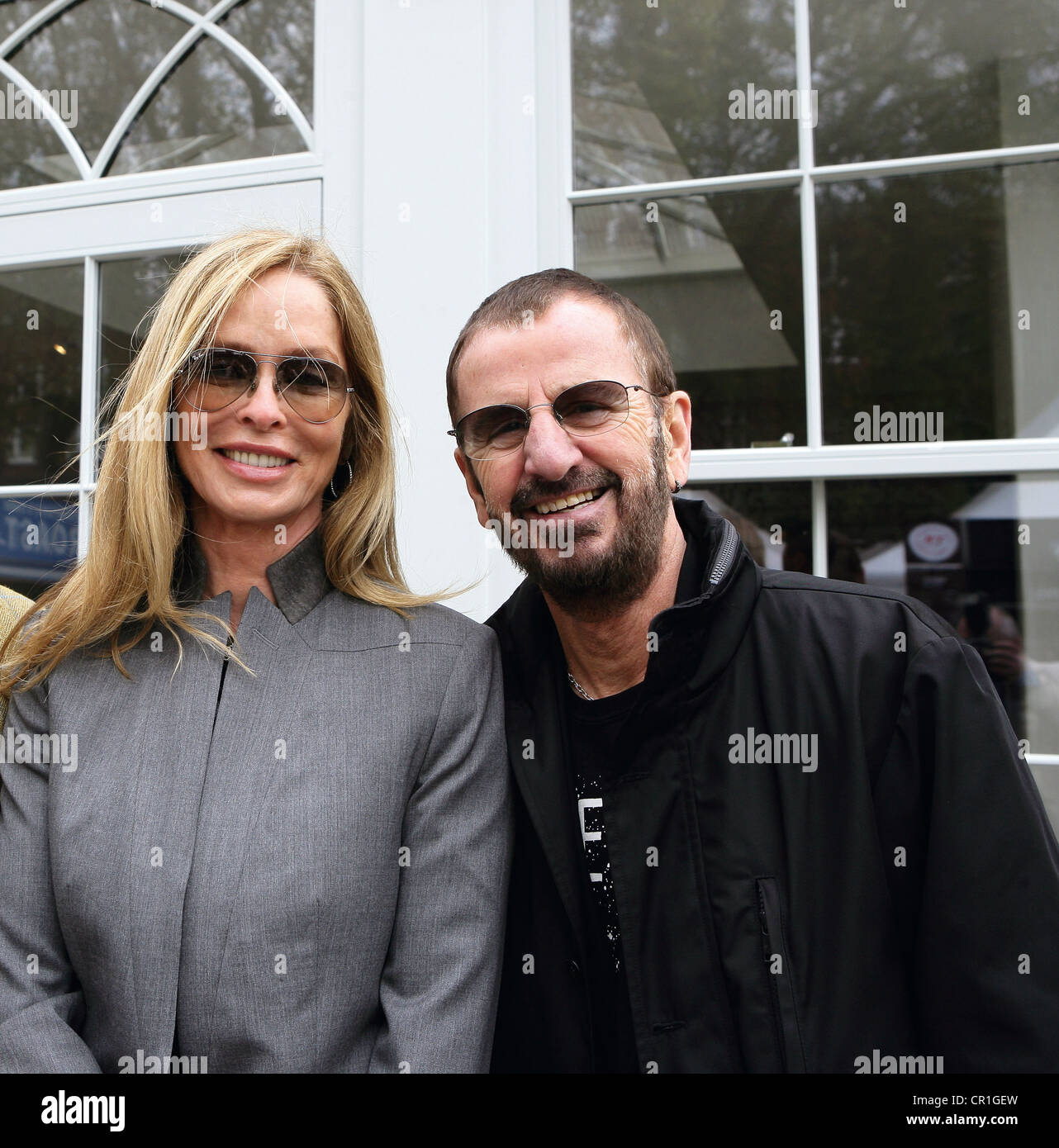 Celebrity Couple Ringo Starr And Wife Barbara Bach Photographed At Stock Photo Alamy