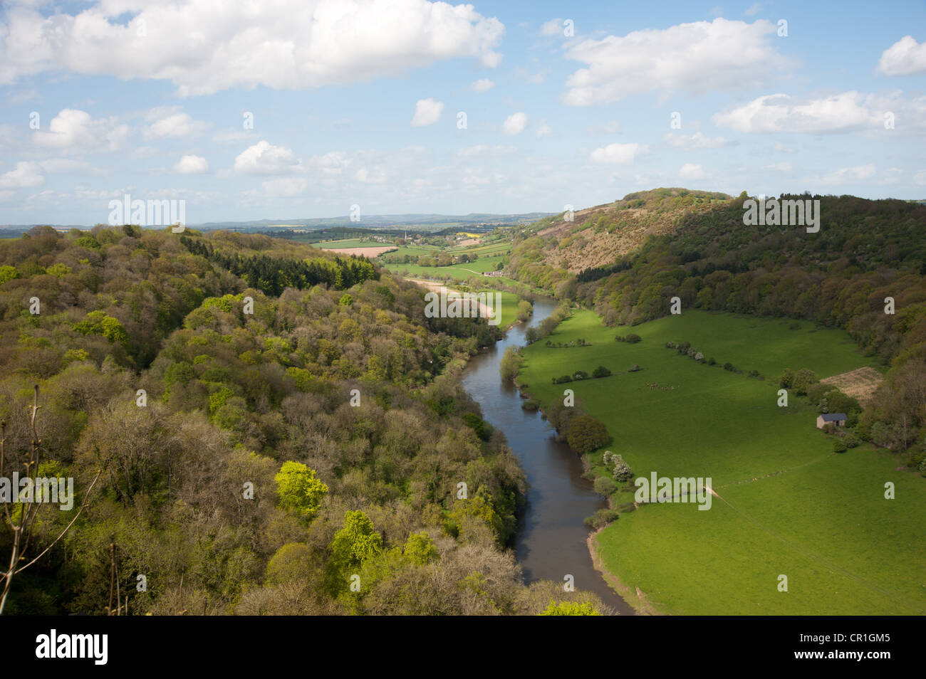 River Wye, 'Symond's Yat rock' , Herefordshire, - Stock Image