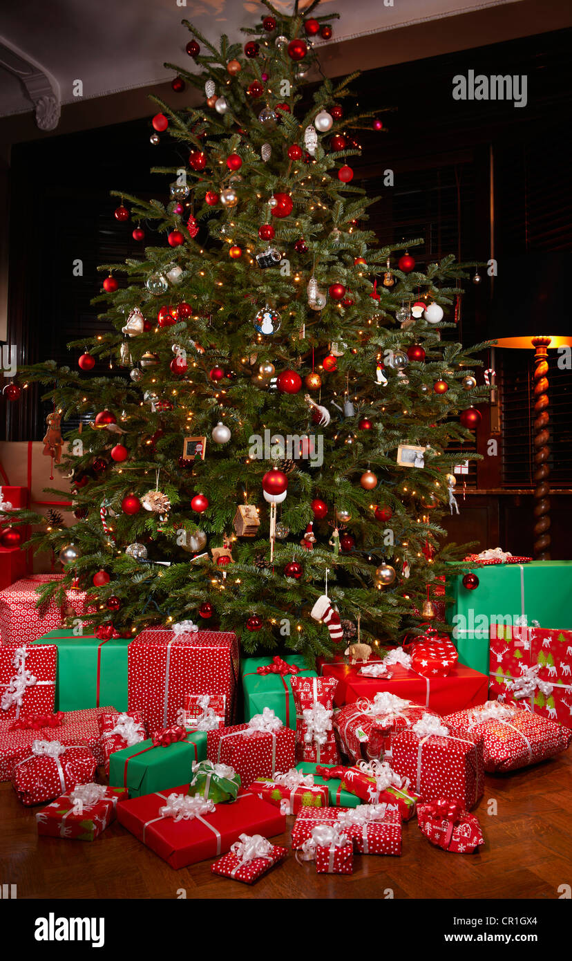 Christmas Presents Under Tree.Christmas Gifts Under Tree Stock Photos Christmas Gifts