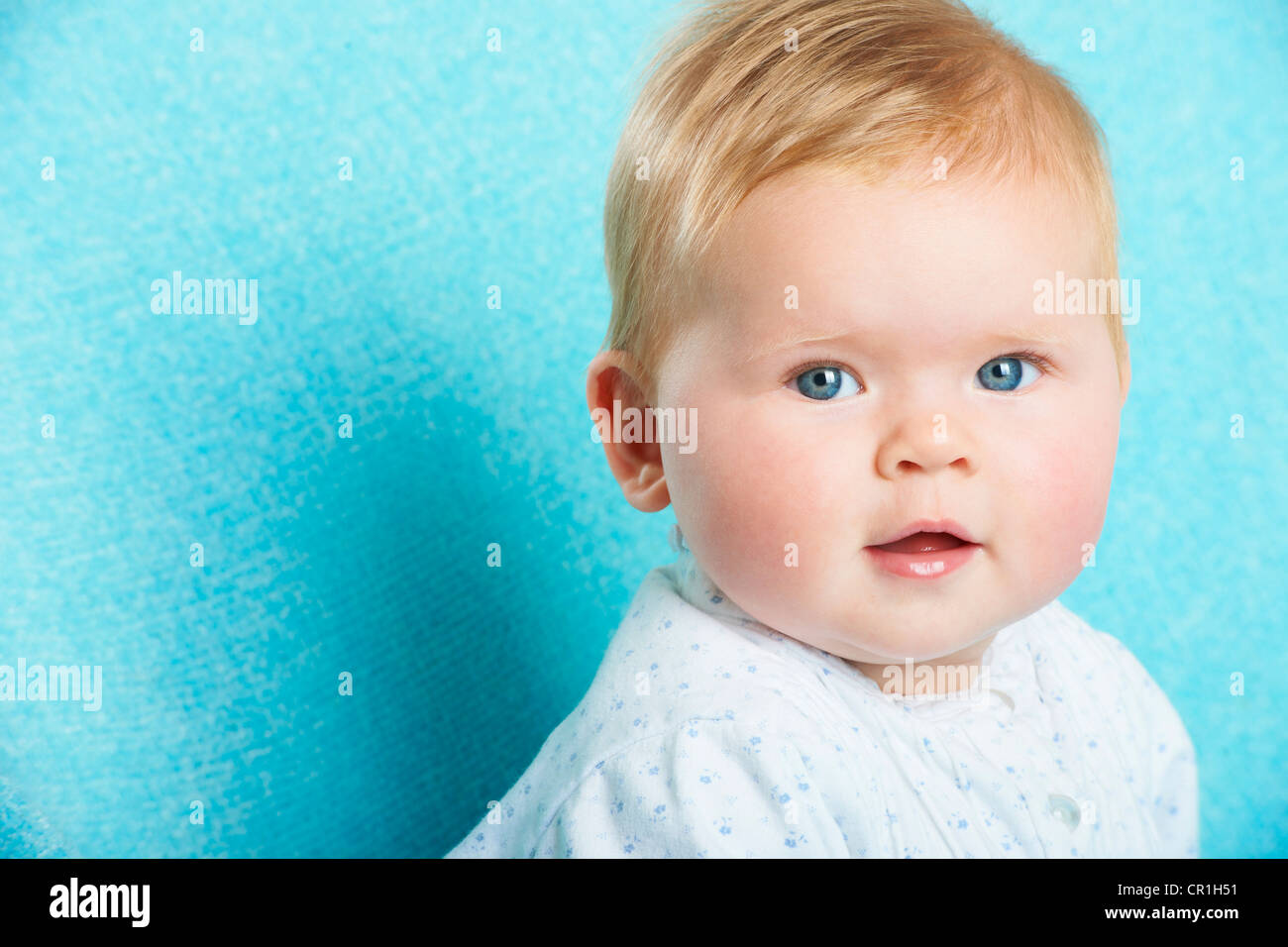 Close up of infants face - Stock Image