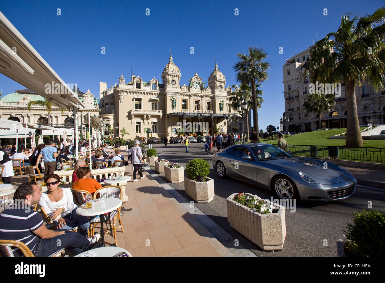 Principalty Of Monaco Monte Carlo Place Du Casino And Terrace Cr Alamy