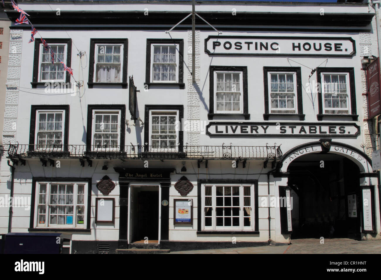 England Surrey Guildford high street Posting house Inn, Angel hotel - Stock Image
