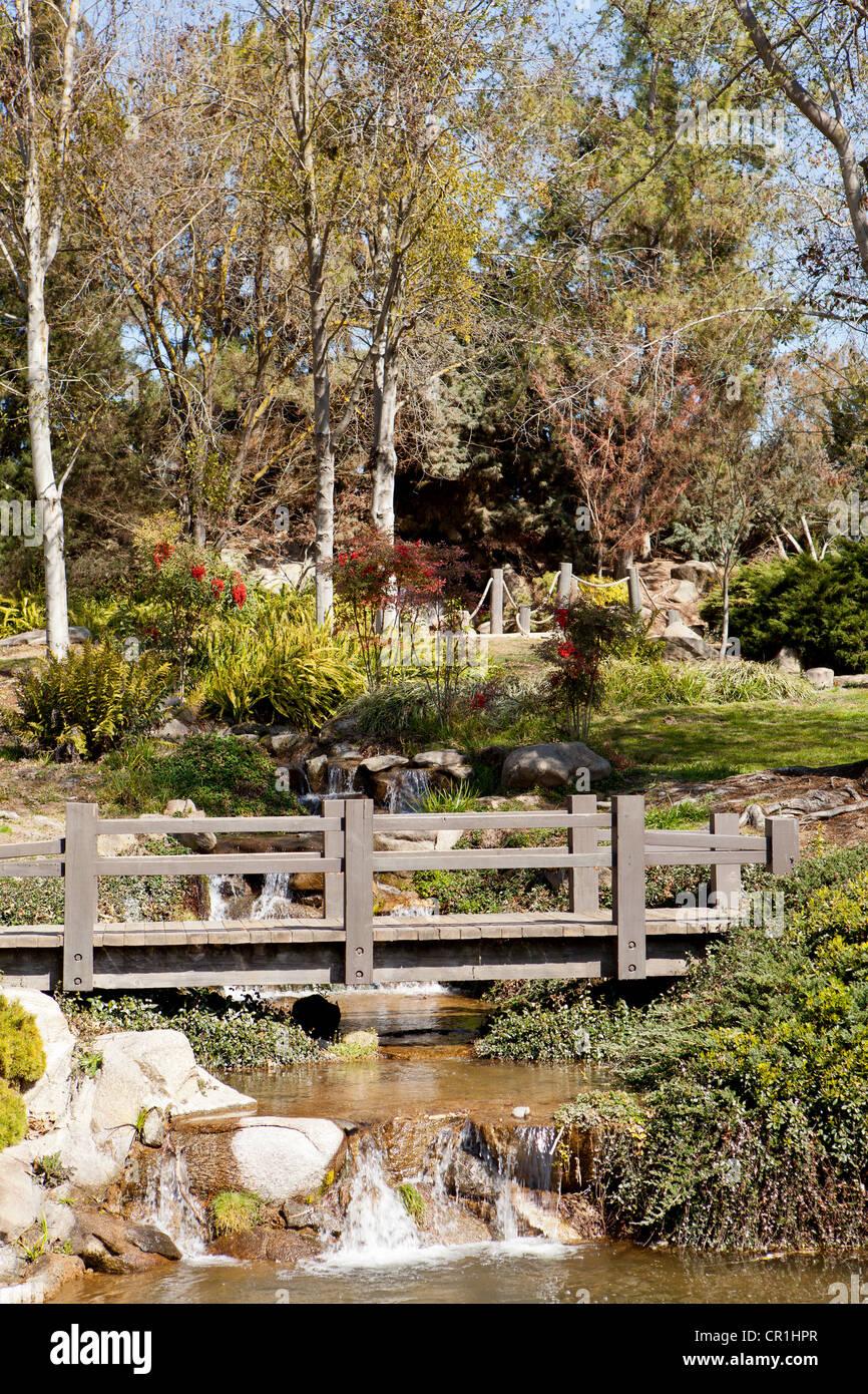 Shinzen Japanese Garden, Fresno, California, USA Stock Photo ...