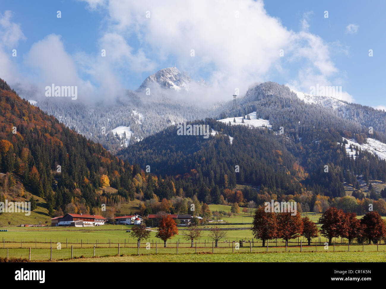 Mt Wendelstein, Dorf quarter of Bayrischzell, Mangfall mountains, Upper Bavaria, Bavaria, Germany, Europe, PublicGround - Stock Image