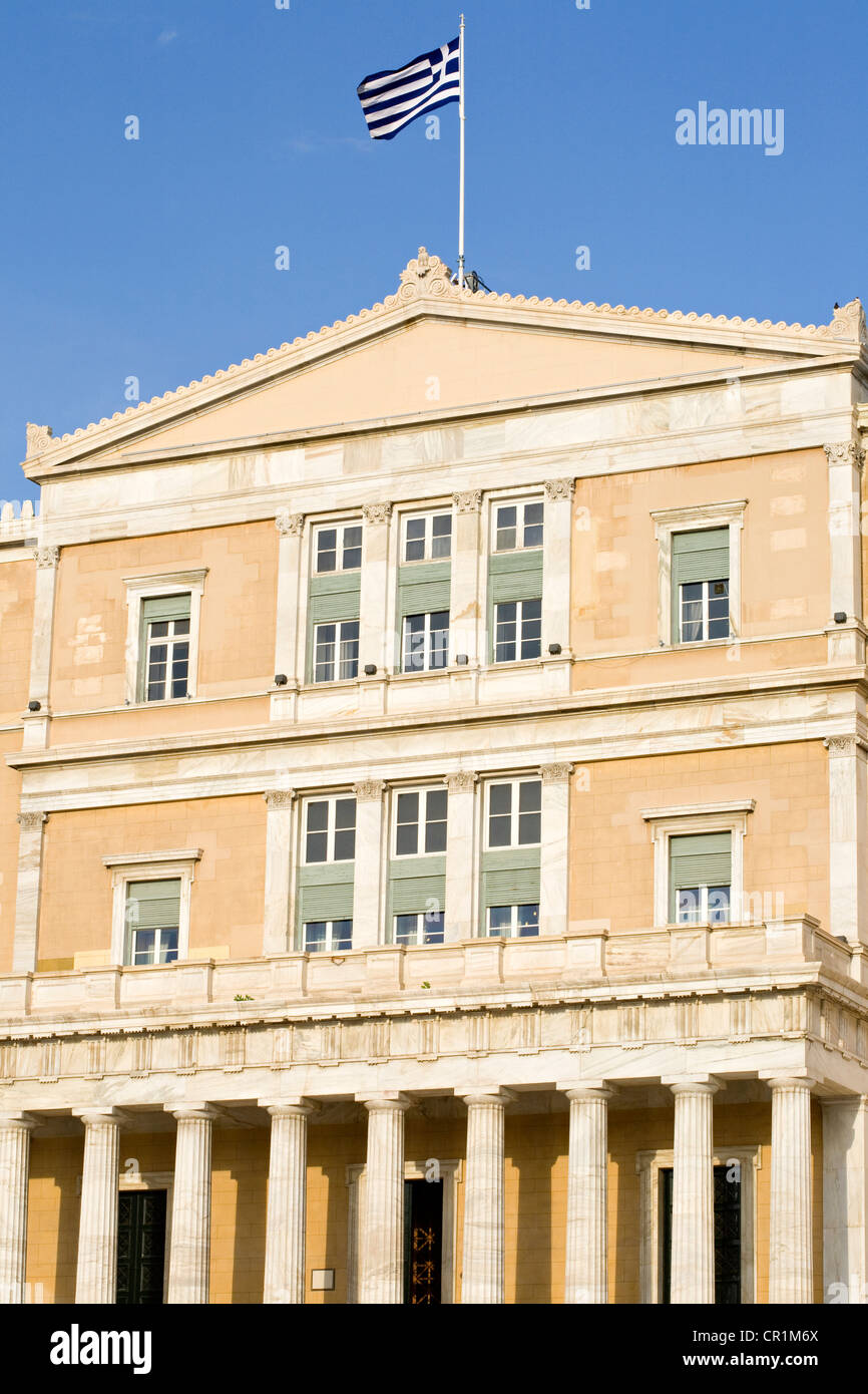 Greece, Attica, Athens, the Parliament is settled in the former King Othon I's palace built between 1836 and 1842 Stock Photo
