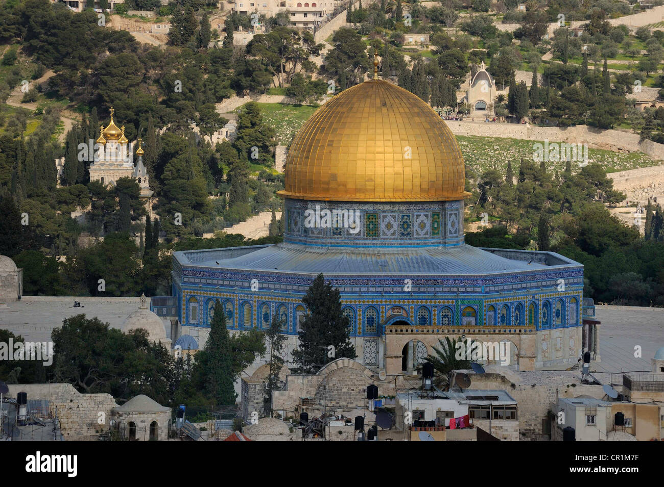 Dome of the Rock on the Temple Mount, Arab Quarter, Old City of Jerusalem, Israel, Middle East Stock Photo