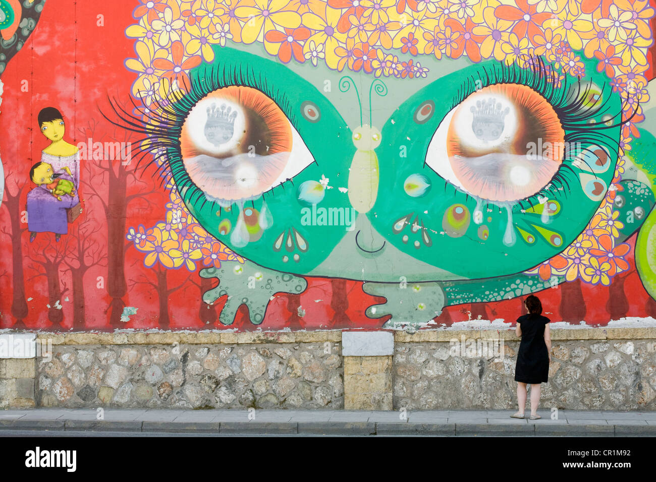Greece, Attica, Athens, Pireos Street, tags - Stock Image