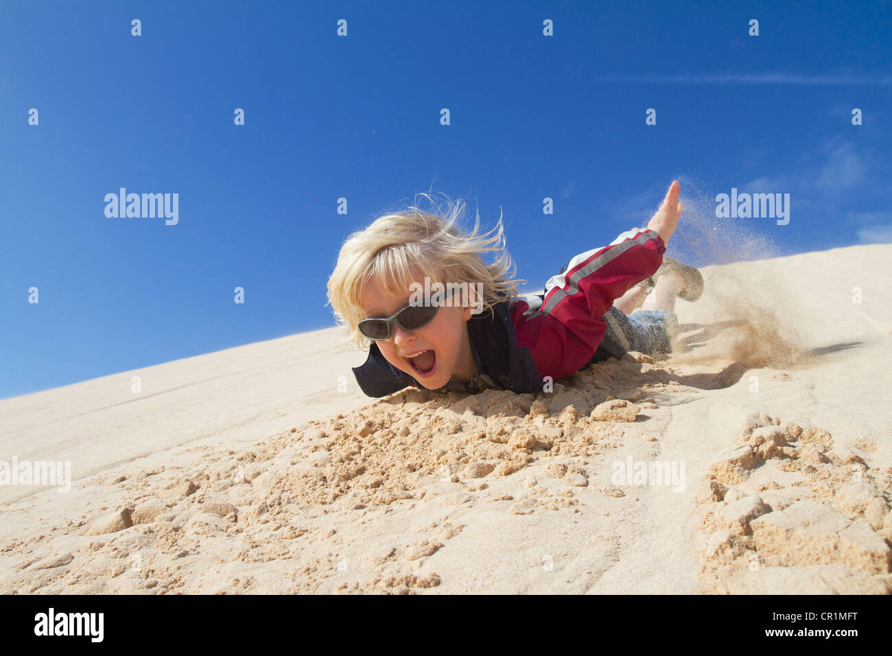 Blonde Boy With Glasses Smiling Stock Photos   Blonde Boy With ... e532d537bcb4