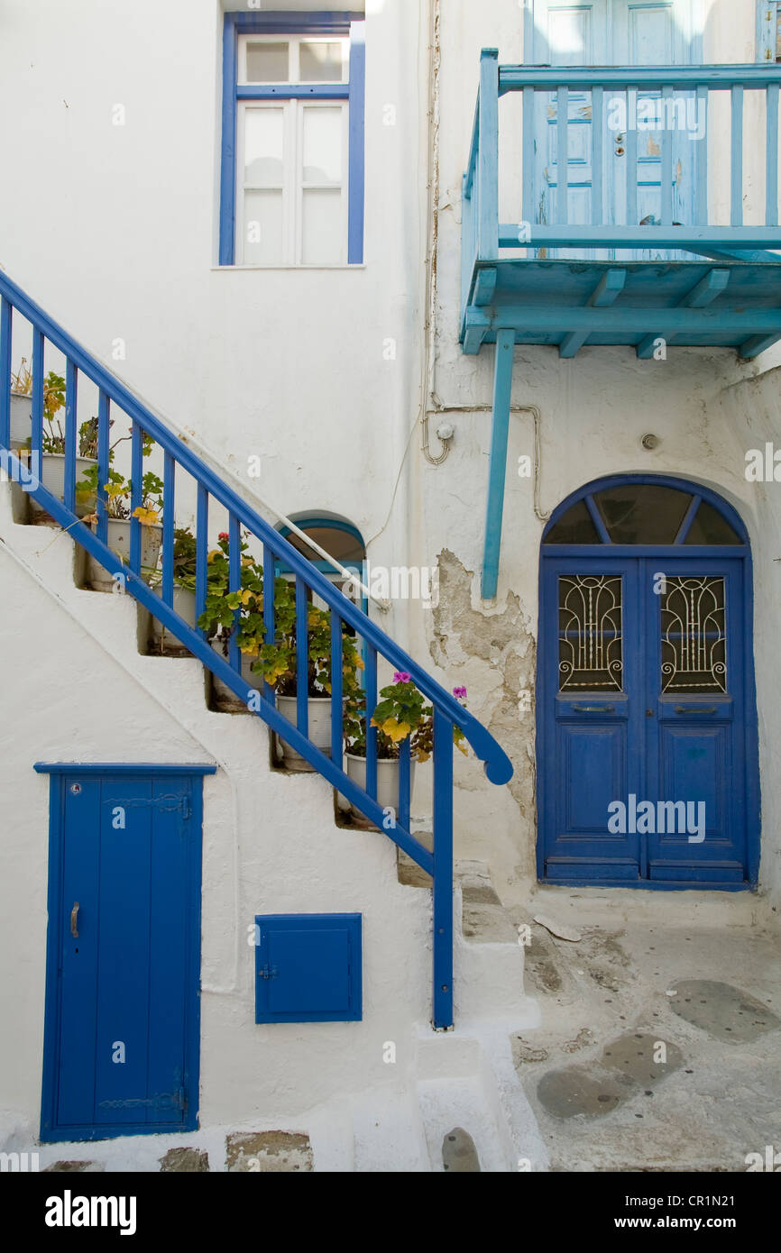 Greece, Cyclades, Mykonos Island, Chora, the old town Stock Photo