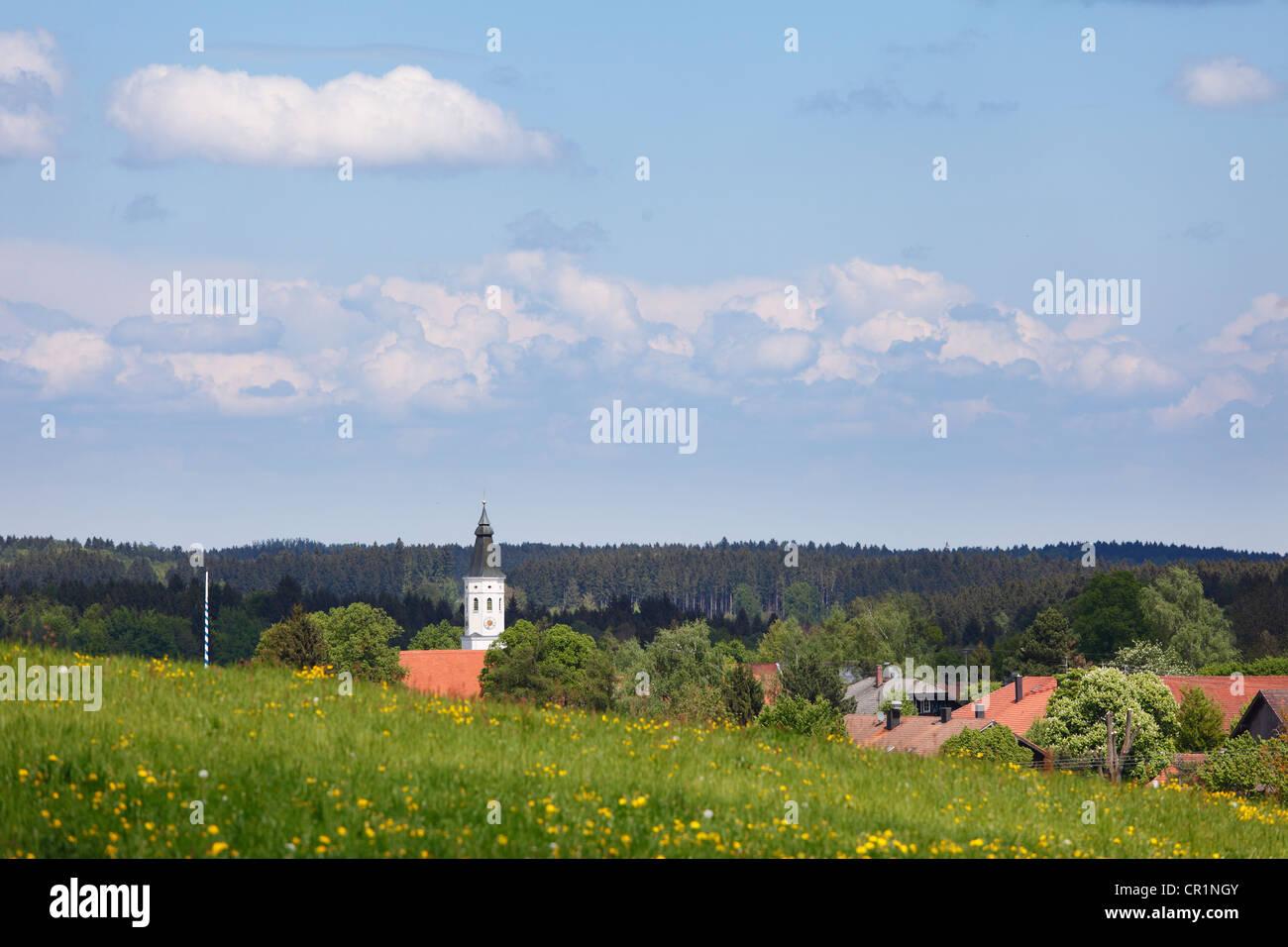 Degerndorf, Muensing community, Upper Bavaria, Bavaria, Germany, Europe - Stock Image