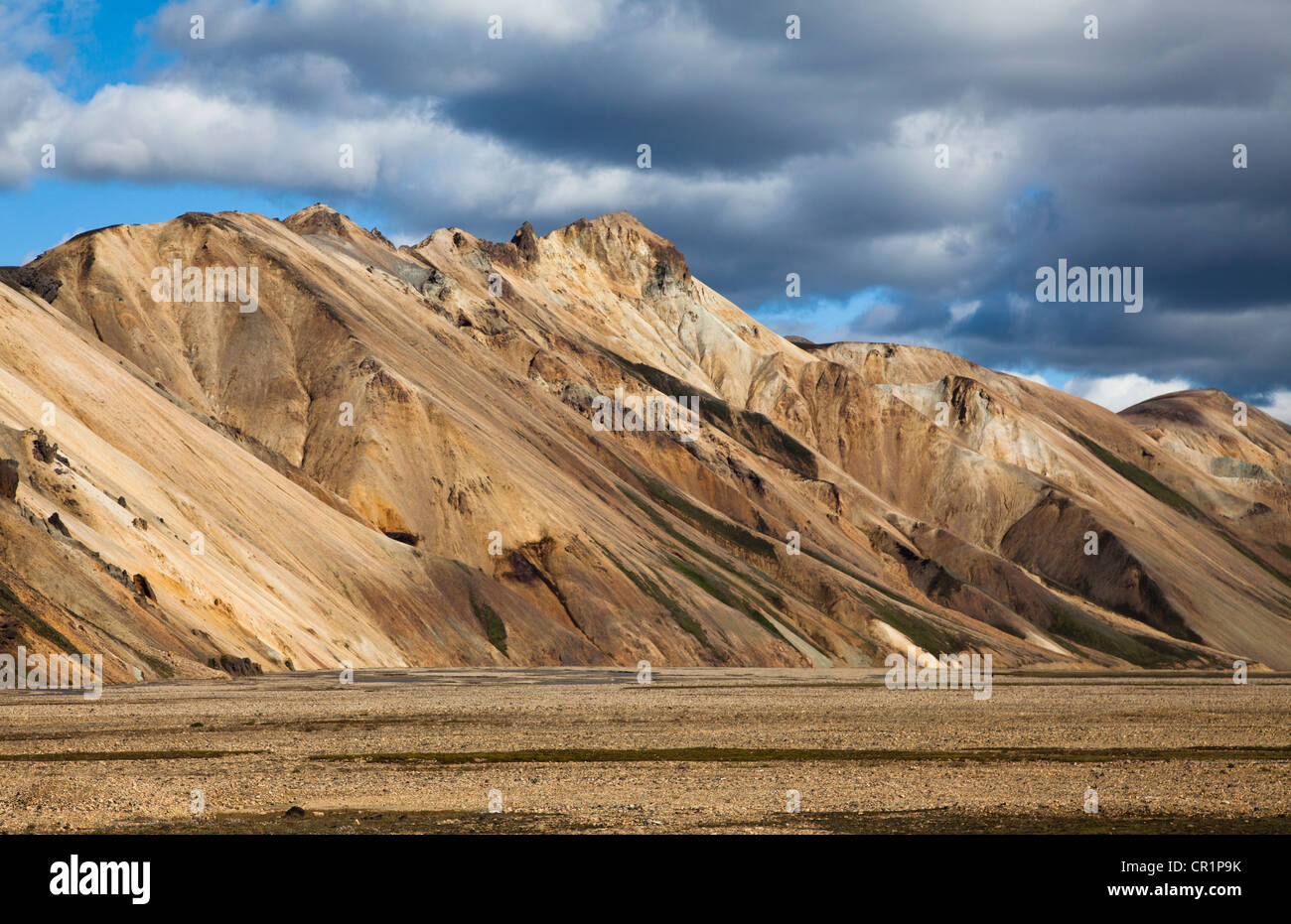 Dry mountains in rural landscape - Stock Image