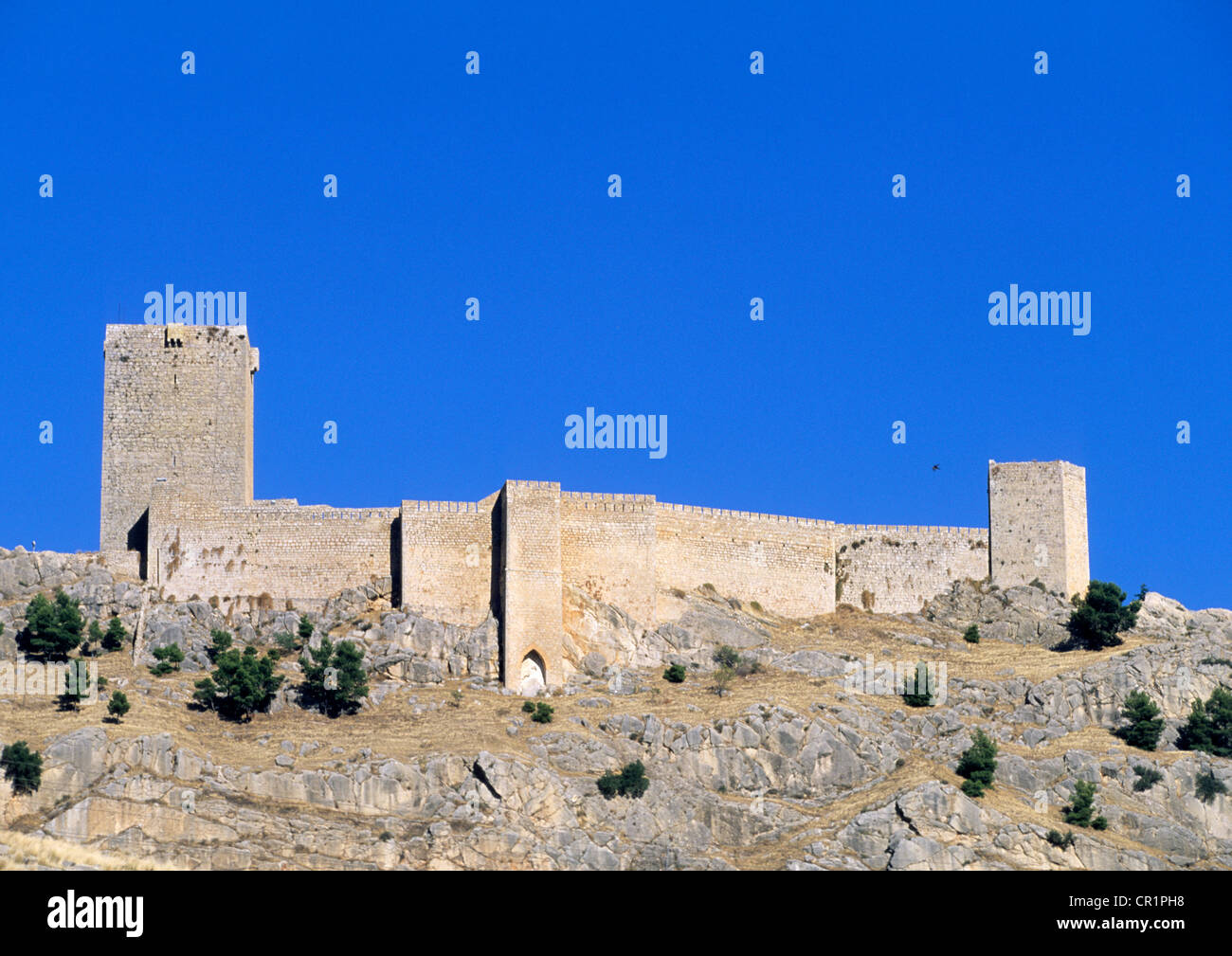 Spain, Andalusia, Jaen region , castle-Parador (hotel) of Santa Catalina Stock Photo