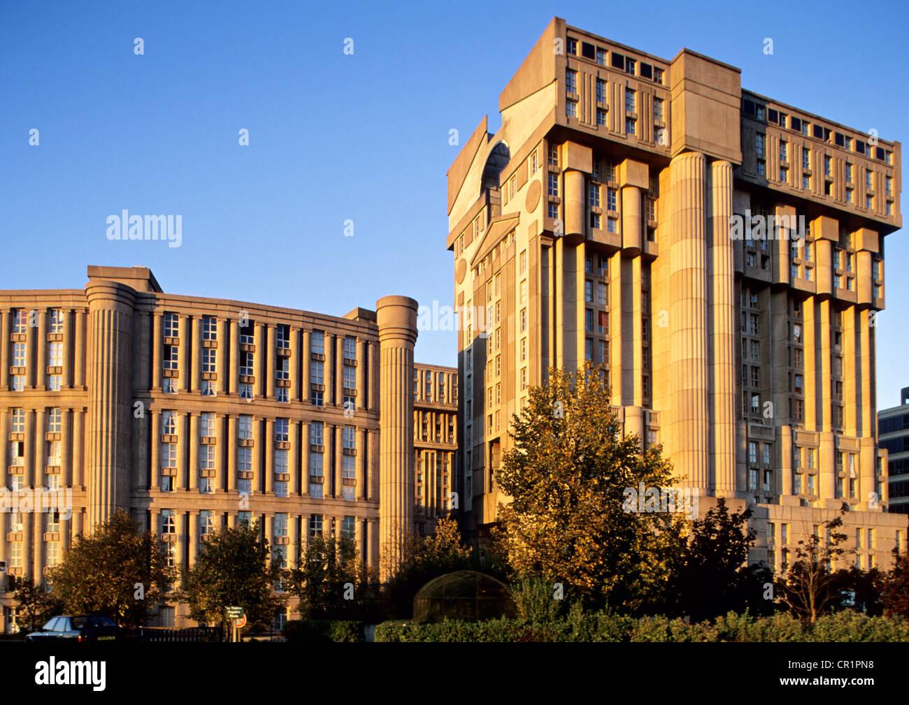 Noisy Le Grand Architecture france, seine saint denis, new town of noisy le grand
