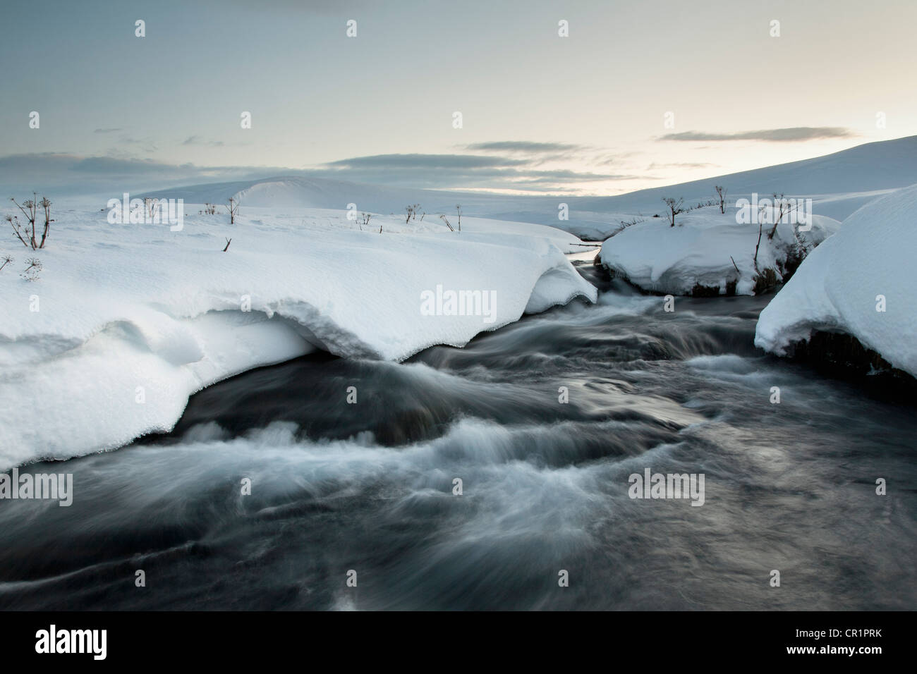 Time lapse view of glacial hot spring - Stock Image