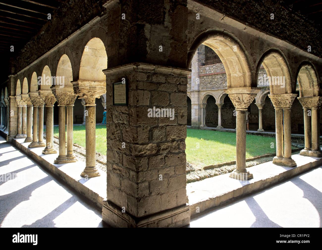France, Ariege, Saint Lizier, stop on Route of Santiago de Compostela, UNESCO World Heritage, Saint Lizier Cathedral, - Stock Image