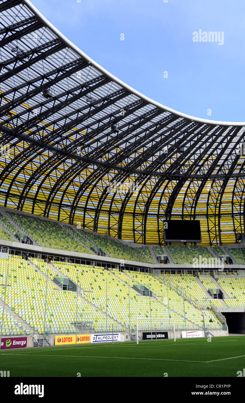 PGE Arena, football stadium, Gdansk, Poland, Europe - Stock Image