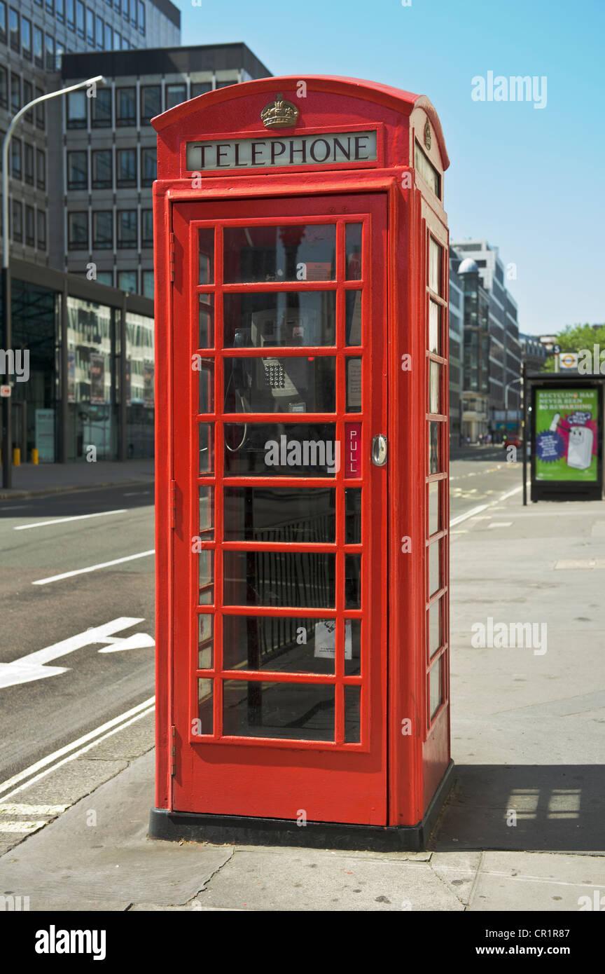 British Public Telephone Kiosk, London, England. - Stock Image
