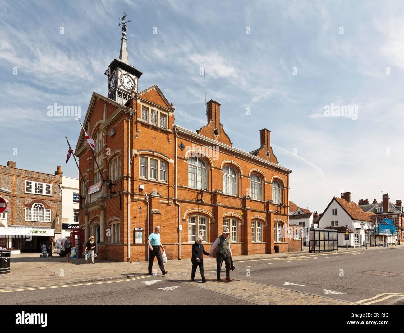 Town Hall, Thame, Oxfordshire, England - Stock Image