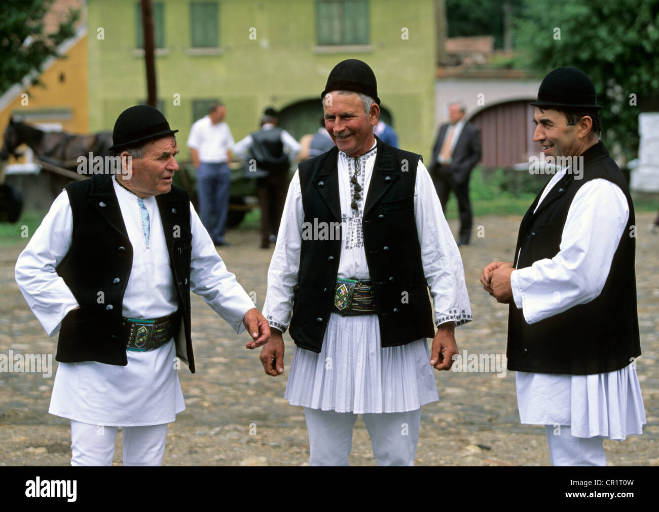 6de0779b9 Romania, Transylvania, peasants wearing traditional clothing Stock ...