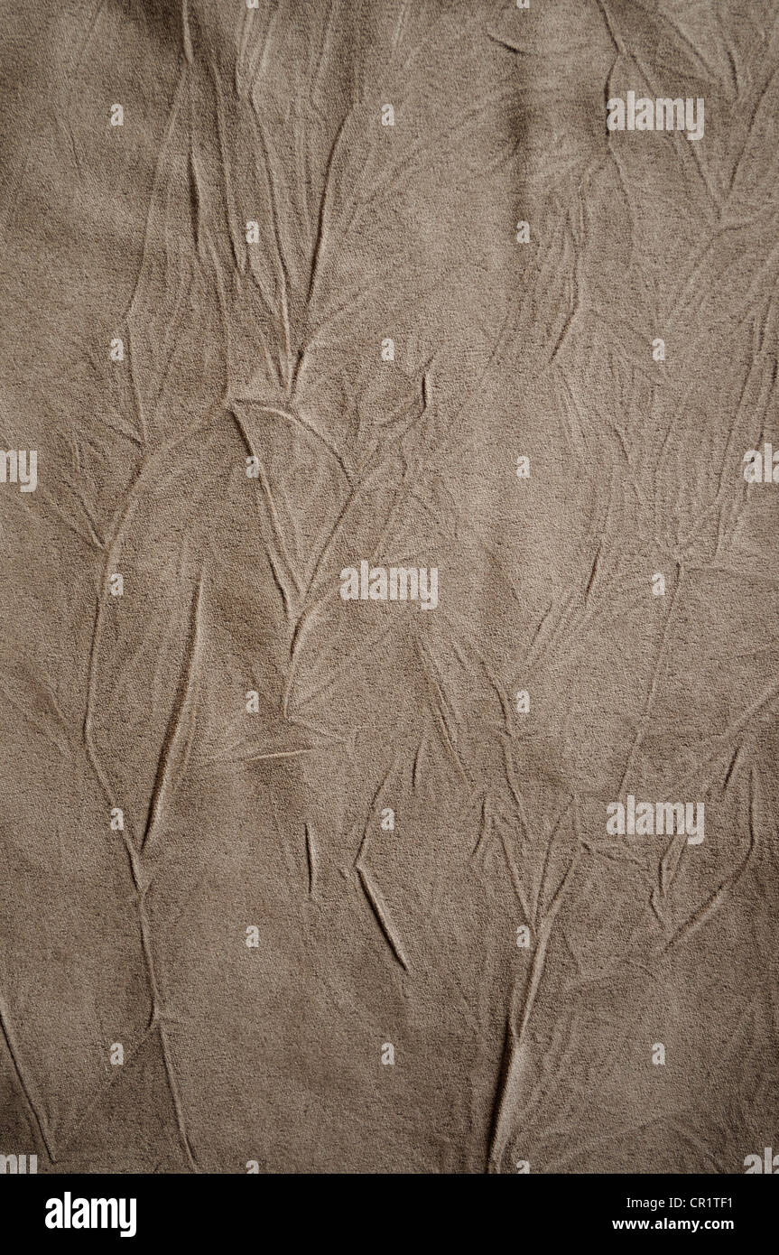 Drape Background Of Brown Crushed Fabric
